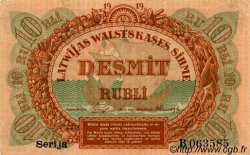 10 Rubli LETTONIE  1919 P.04d SUP+
