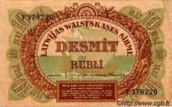 10 Rubli LETTONIE  1919 P.04f TTB