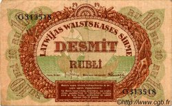 10 Rubli LETTONIE  1919 P.04f TB+