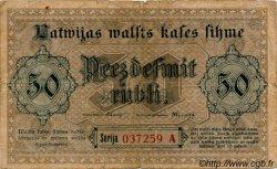 50 Rubli LETTONIE  1919 P.06 B+