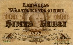 100 Rubli LETTONIE  1919 P.07b pr.TTB