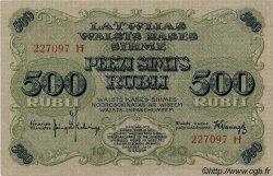 500 Rubli LETTONIE  1920 P.08b SUP