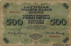 500 Rubli LETTONIE  1920 P.08c TB
