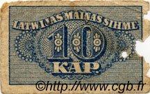 10 Kapeikas LETTONIE  1920 P.10a AB