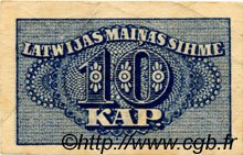 10 Kapeikas LETTONIE  1920 P.10a TTB
