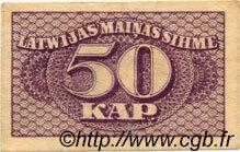50 Kapeikas LETTONIE  1920 P.12a TTB