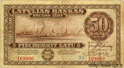 50 Latu LETTONIE  1924 P.16a TB