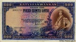500 Latu LETTONIE  1929 P.19a TTB