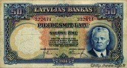 50 Latu LETTONIE  1934 P.20a TB
