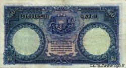 50 Latu LETTONIE  1934 P.20a TTB