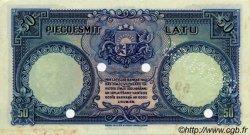 50 Latu LETTONIE  1934 P.20s1 SPL