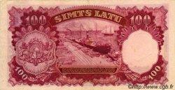 100 Latu LETTONIE  1939 P.22a TTB
