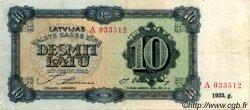 10 Latu LETTONIE  1933 P.25a TB+