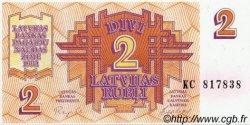 2 Rubli LETTONIE  1992 P.36 NEUF