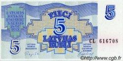5 Rubli LETTONIE  1992 P.37 NEUF