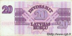 20 Rublu LETTONIE  1992 P.39 TTB