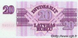 20 Rublu LETTONIE  1992 P.39 NEUF