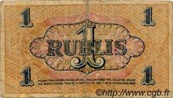 1 Rublis LETTONIE  1919 P.R1 B+