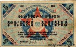 5 Rubli LETTONIE Riga 1919 P.R3a TB