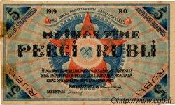 5 Rubli LETTONIE  1919 P.R3a TTB+