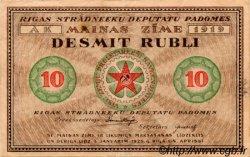 10 Rubli LETTONIE Riga 1919 P.R4 SUP