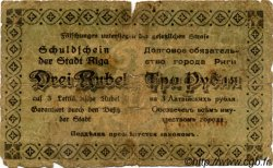 3 Rubli LETTONIE  1919 P.-- B