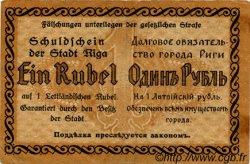 1 Rublis LETTONIE  1919 P.-- TTB
