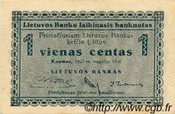 1 Centas LITUANIE  1922 P.01a pr.NEUF