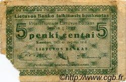 5 Centai LITUANIE  1922 P.02a B