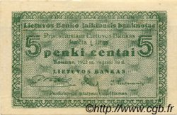 5 Centai LITUANIE  1922 P.02a SPL