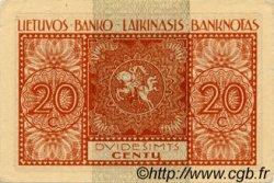 20 Centu LITUANIE  1922 P.03a SUP+