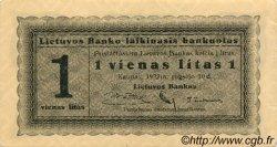 1 Litas LITUANIE  1922 P.05a SUP+
