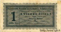 1 Litas LITUANIE  1922 P.05b pr.TTB