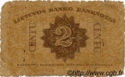 2 Centu LITUANIE  1922 P.08a AB