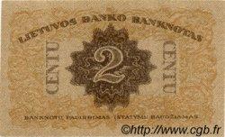 2 Centu LITUANIE  1922 P.08a NEUF