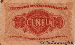 10 Centu LITUANIE  1922 P.10a TB+