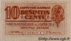 10 Centu LITUANIE  1922 P.10a TTB
