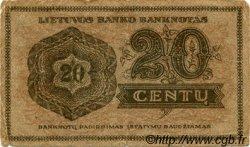 20 Centu LITUANIE  1922 P.11a pr.TB