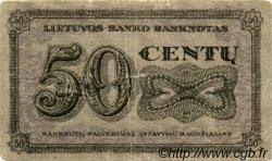 50 Centu LITUANIE  1922 P.12a TB