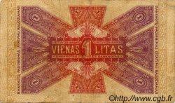 1 Litas LITUANIE  1922 P.13a TB à TTB