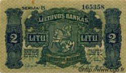 2 Litu LITUANIE  1922 P.14a SUP