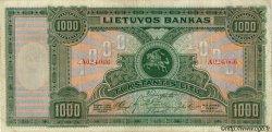 1000 Litu LITUANIE  1924 P.22a TTB