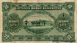 10 Litu LITUANIE  1927 P.23a TB