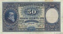50 Litu LITUANIE  1928 P.24a TB