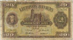 20 Litu LITUANIE  1930 P.27a B