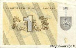 1 Talonas LITUANIE  1991 P.32a TTB+