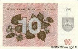 10 Talonas LITUANIE  1991 P.35a SPL
