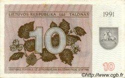 10 Talonas LITUANIE  1991 P.35b TB à TTB