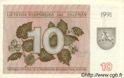 10 Talonas LITUANIE  1991 P.35b