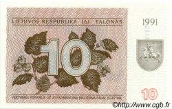 10 Talonas LITUANIE  1991 P.35b NEUF